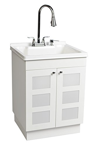 LDR 7712CP-SD Laundry Utility Cabinet Sink Vanity Chrome Faucet with ...